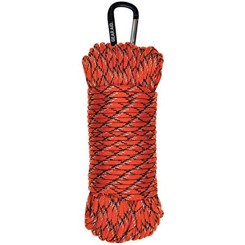 Gear Aid 550 Paracord - 100' Orange Reflective 80691