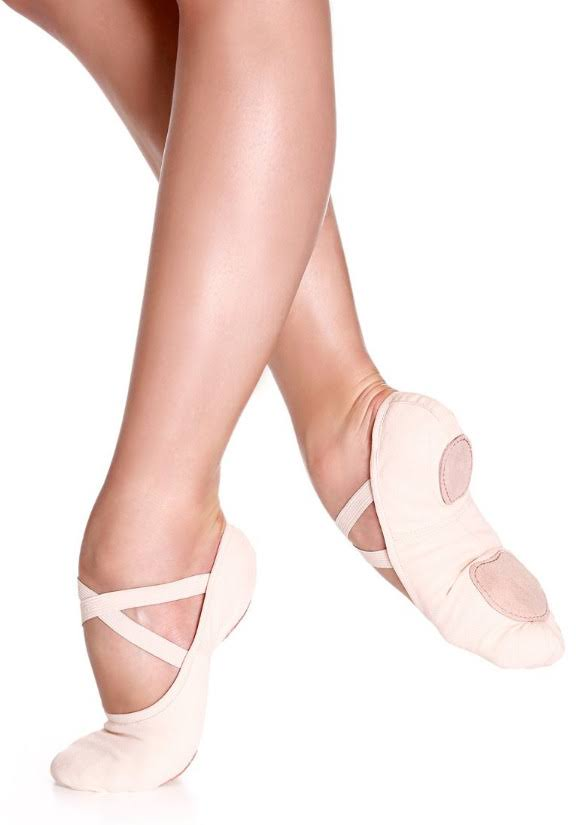 So Danca SD16 Canvas Split Sole Ballet Shoe 6.5 / Pink