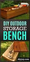 Build Outdoor Storage Bench by Diy Outdoor Storage Benches Outdoor Storage Storage Benches And