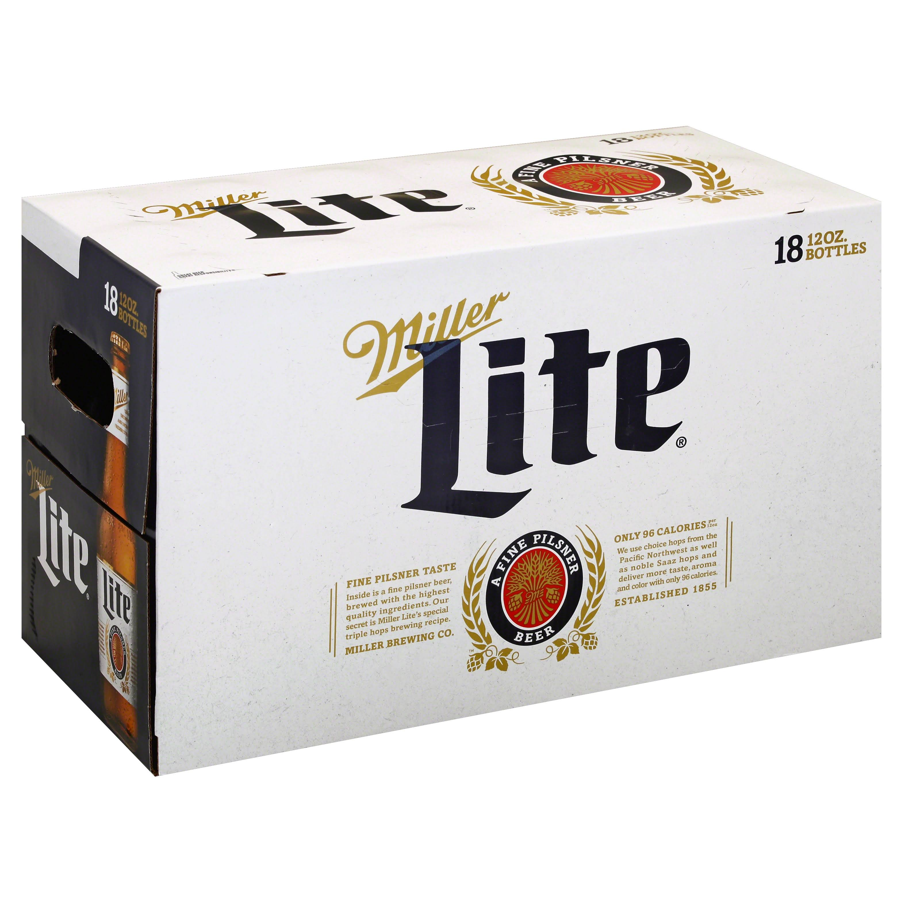 Miller Lite Beer - 18 Bottles