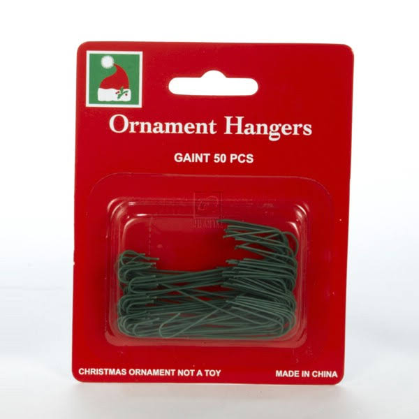 "Kurt Adler 2 3/8"" Green Ornament Hooks 50pc."