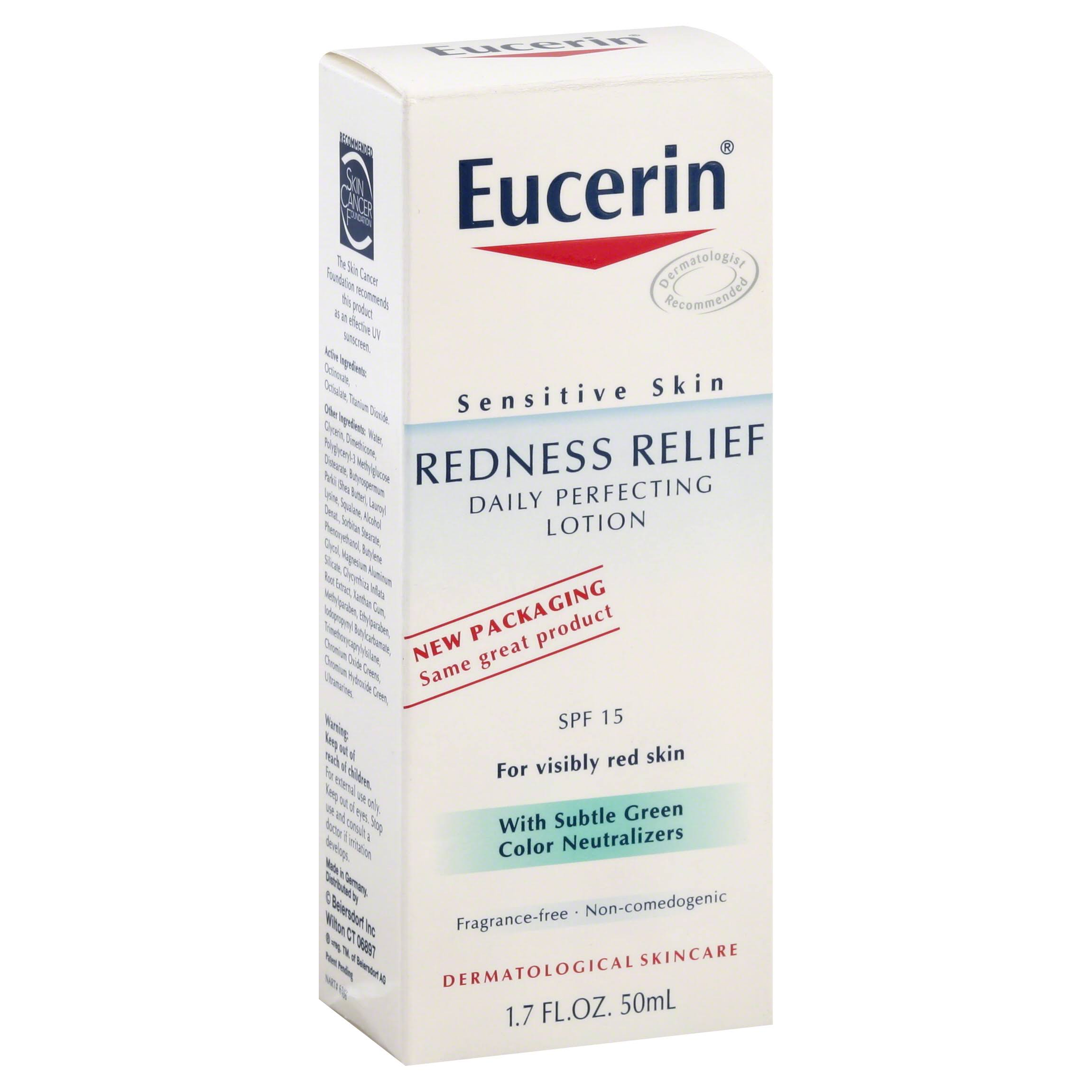 Eucerin Sensitive Skin Redness Relief Daily Perfecting Lotion - SPF 15, 1.7oz