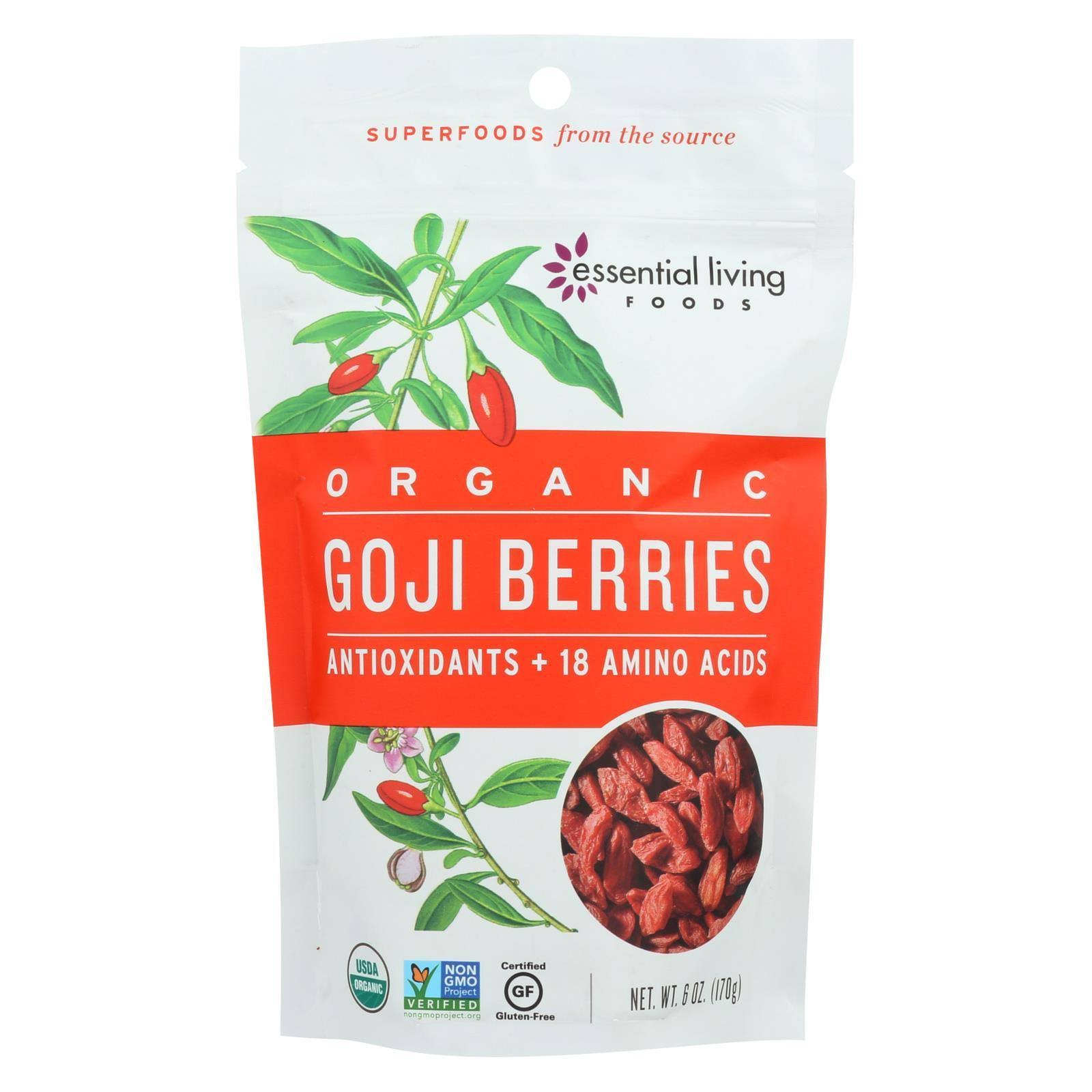 Essential Living Foods Ningxia Goji Berries - 8oz