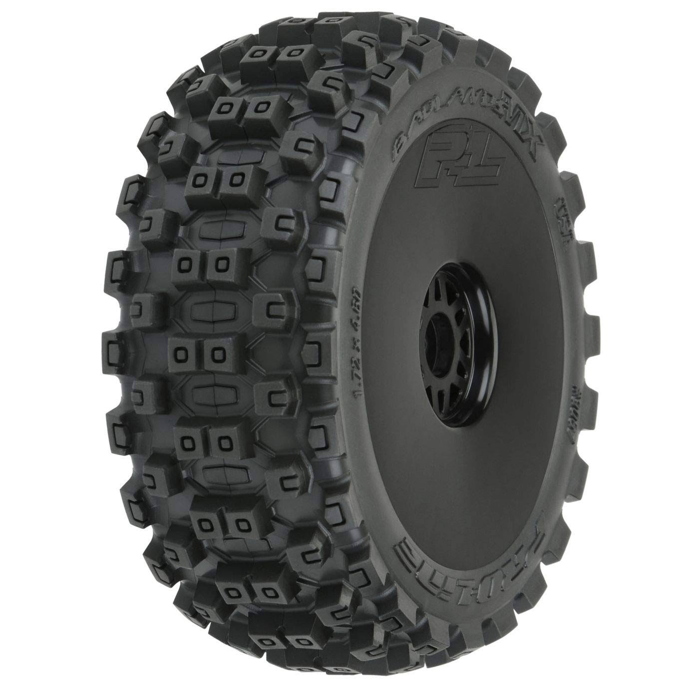 Pro Lline Racing Rc Model Vehicle Parts 9067 41 Badlands MX M2 Medium All Terrain Mounted Tires - Black, 1:8 Scale