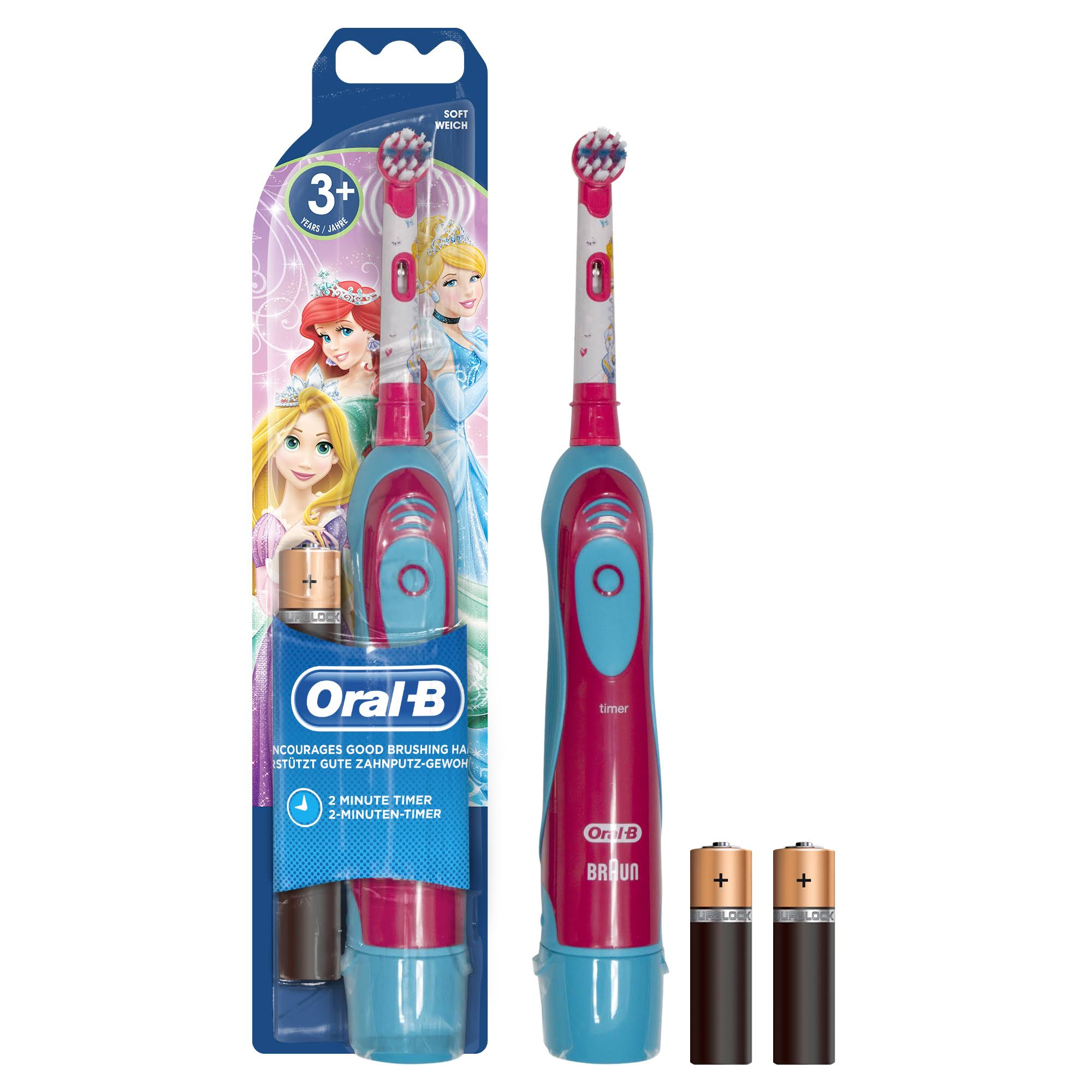 Oral B Advanced Battery Power Kids Toothbrush - Disney Princesses