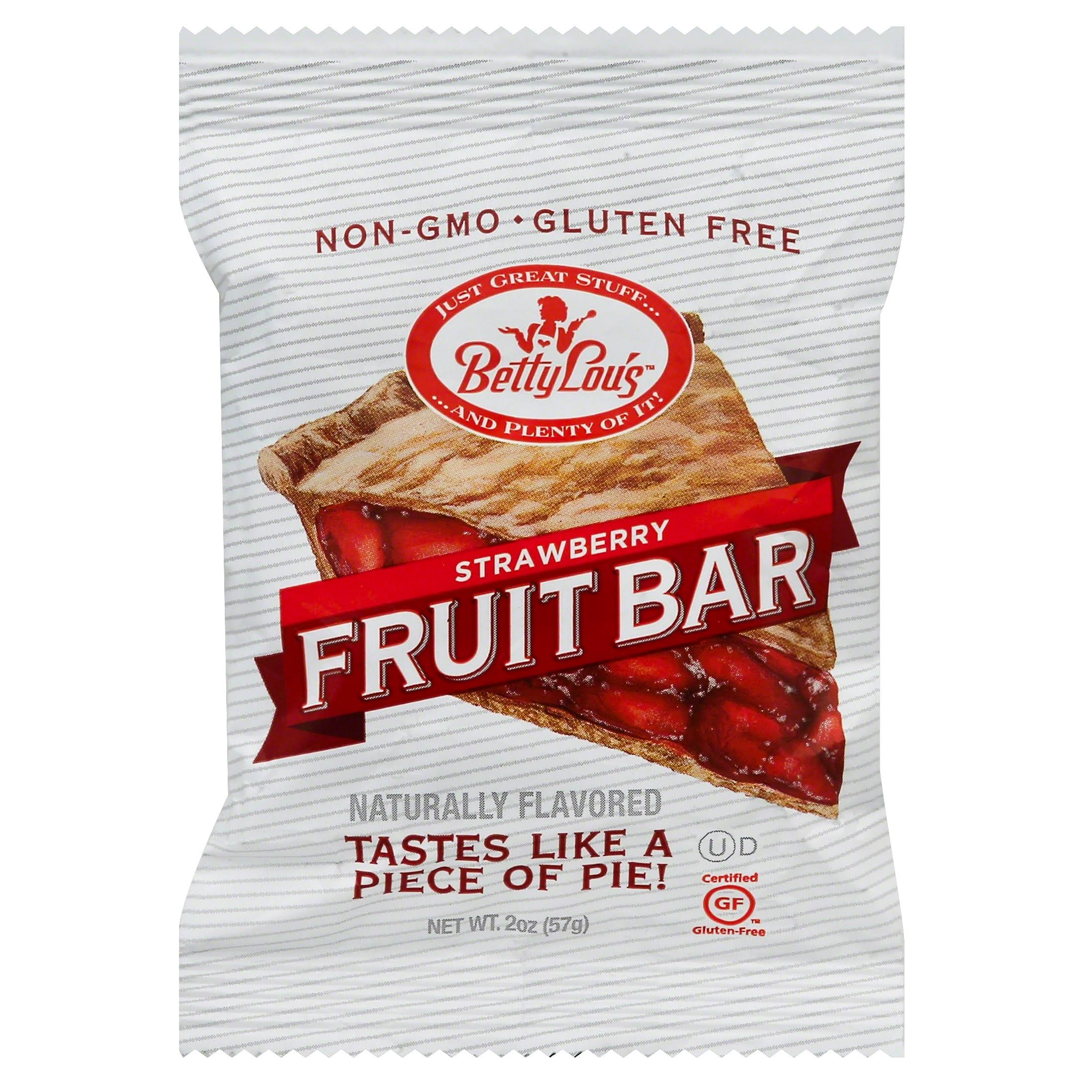 Betty Lou's Fruit Bar - Strawberry, 12 Pack