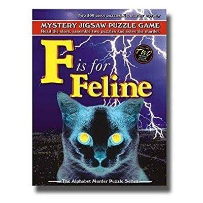 TDC Games F is for Feline Mystery Jigsaw Puzzle - 500 Pieces