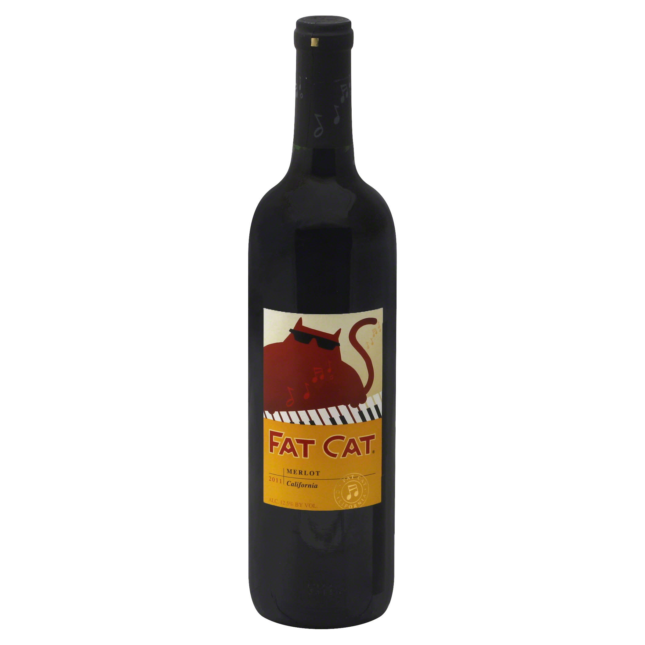 Fat Cat Merlot, California, 2011 - 750 ml