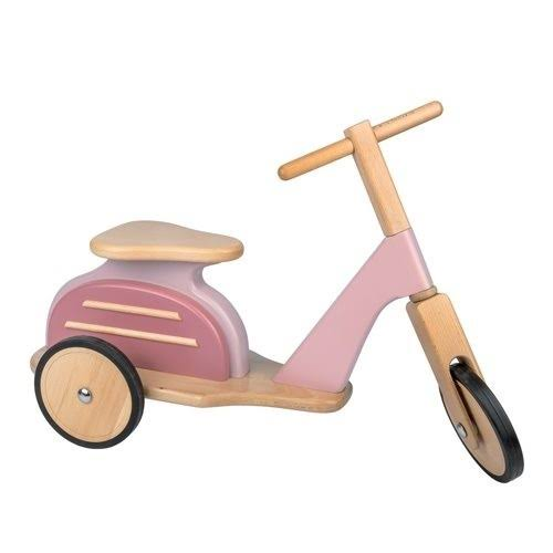 Moulin Roty Pink Ride-On Scooter One Size
