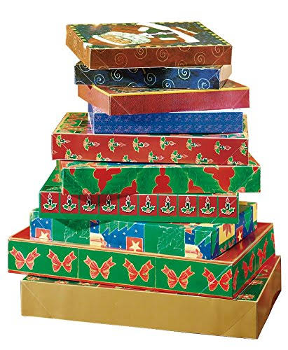 Christmas Boxes 2 Pk 17 x 11 x 2-1/2 in It's in The Bag