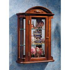 Free Standing Kitchen Cabinets Amazon by Amazon Com Glass Curio Cabinets Rosedale Wall Mounted Curio