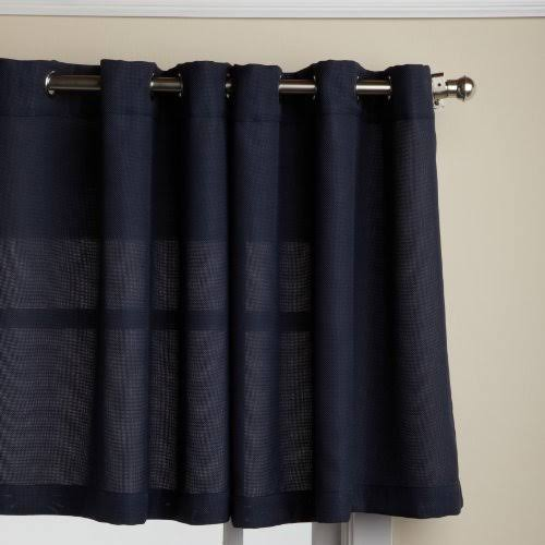 Lorraine Home Fashions Jackson 58-Inch x 24-Inch Tier Curtain Pair Navy