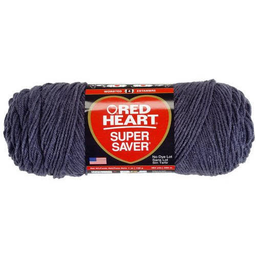 Red Heart Super Saver Yarn - Charcoal, 364yds