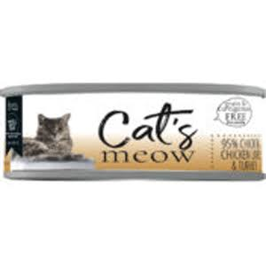 Dave's Cat's Meow 95% Chicken, Chicken Liver & Turkey Canned Cat Food - Can