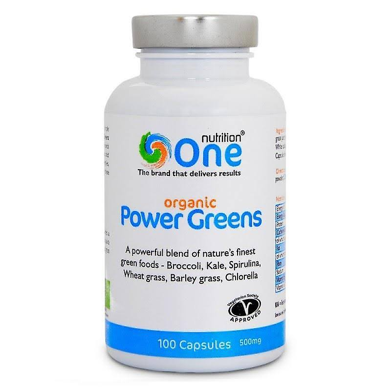 One Nutrition Organic Power Greens - 500mg, 100 Capsules