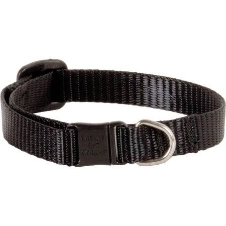 "Lupine Cat Safety Collar - 8-12"" Neck, Black"