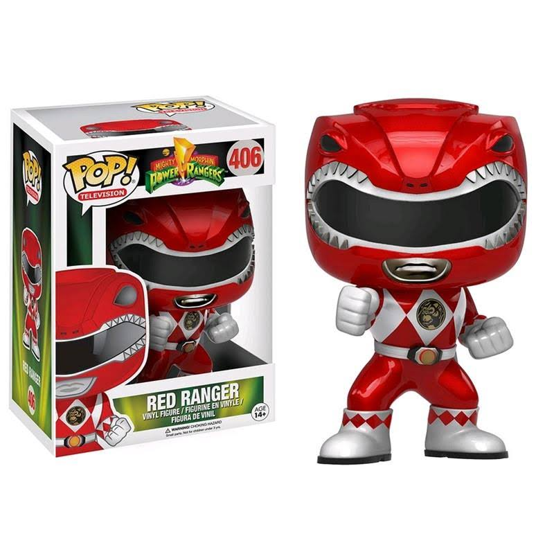 Funko POP! Power Rangers Television Vinyl Figure - Red Ranger, Metallic