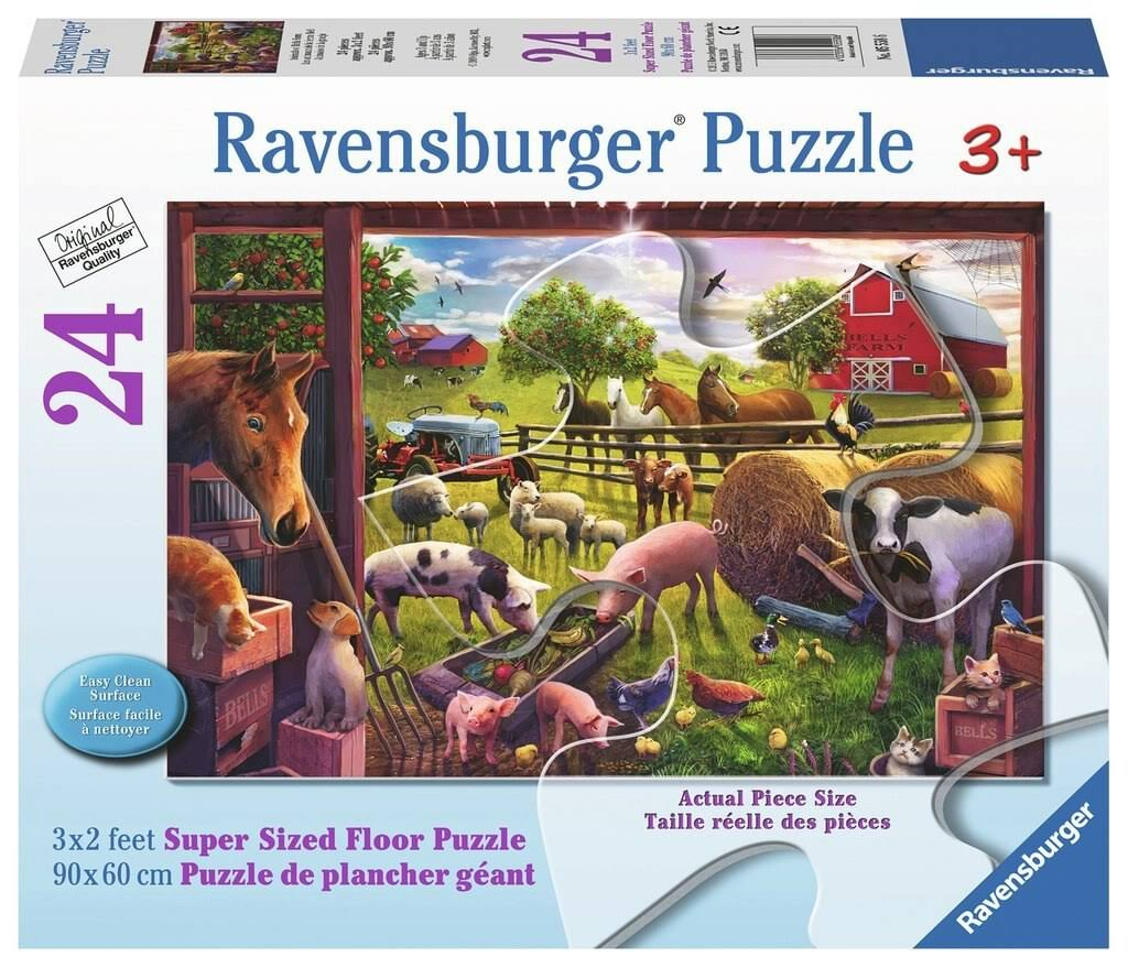 Ravensburger Animals of Bells Farm 24Piece Floor Puzzle