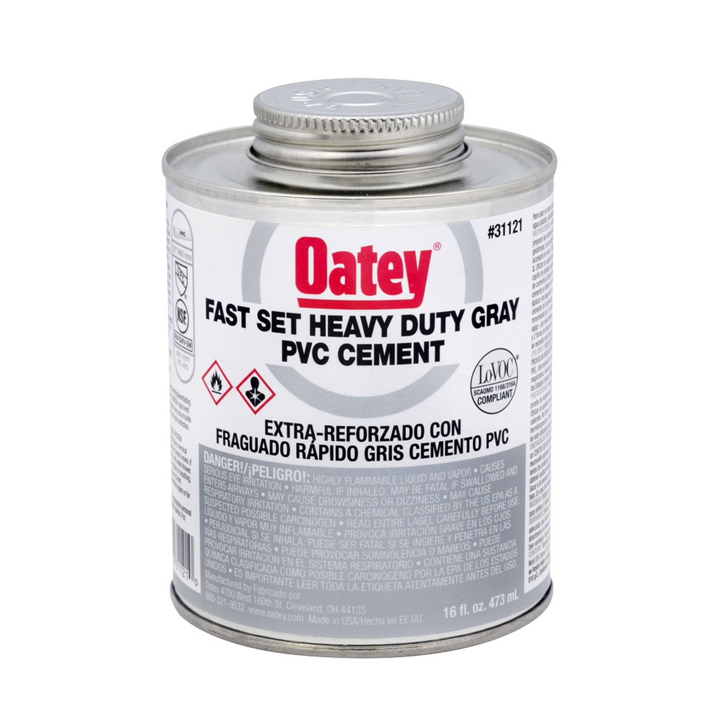 Oatey Heavy-Duty Clear PVC Cement - 32oz