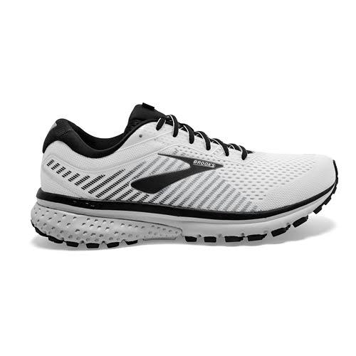 Brooks Ghost 12 (White/Grey/Black) Men's Running Shoes