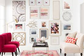 Coral Colored Decorative Items by Pink Wall Decor Target
