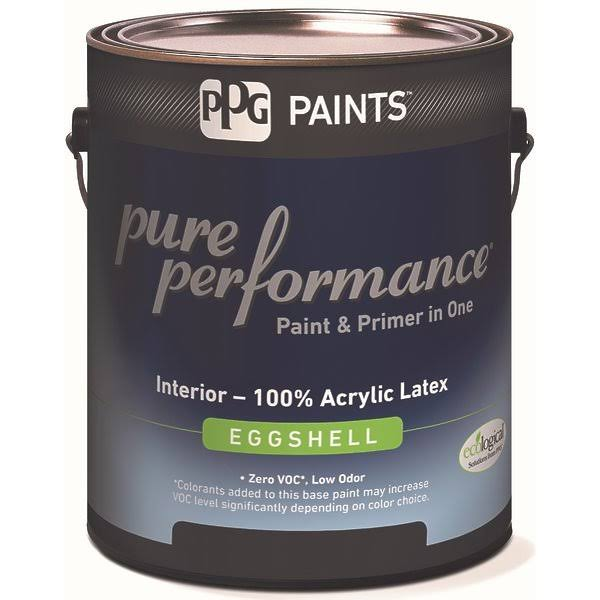 PPG Architectural Coatings 418843645 1 Quart. 9-310-04 Eggshell Interior Latex Pure Performance Paint, Pastel