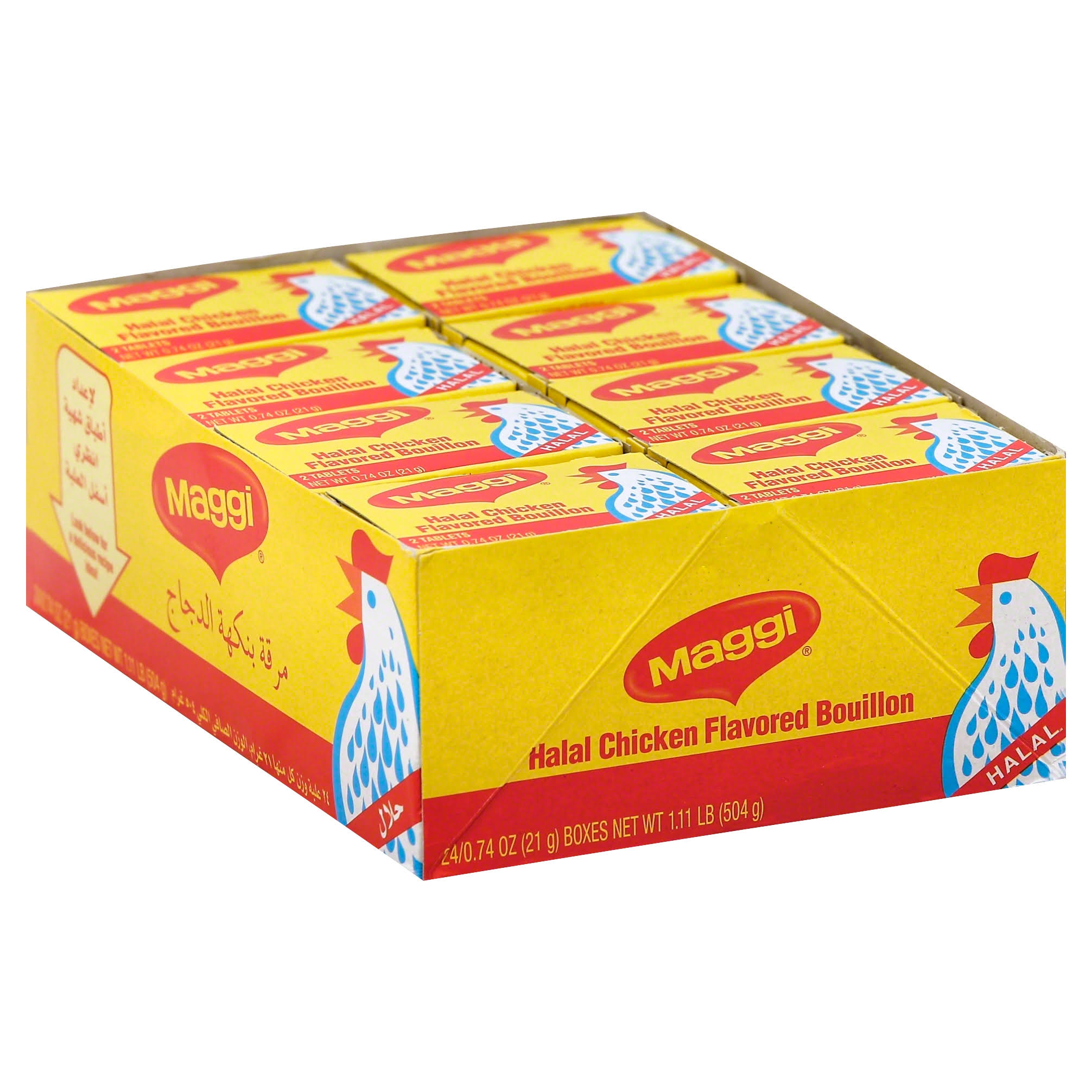 Maggi Bouillon, Halal Chicken Flavored - 24 pack, 0.74 oz boxes