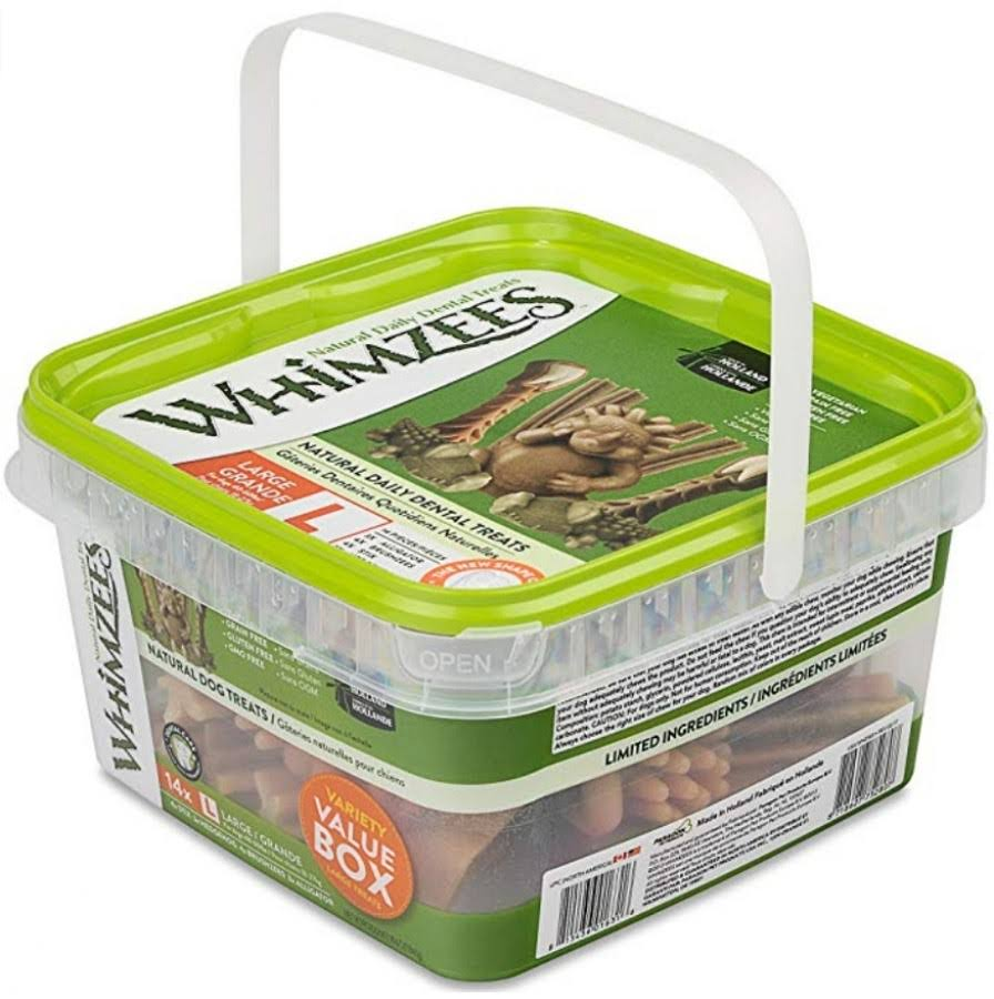 Whimzees Variety Dog Chews Container - Large, 40lbs