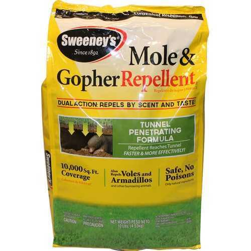 Sweeney's Dual Action Mole and Gopher Animal Repellent Granules - 10lbs