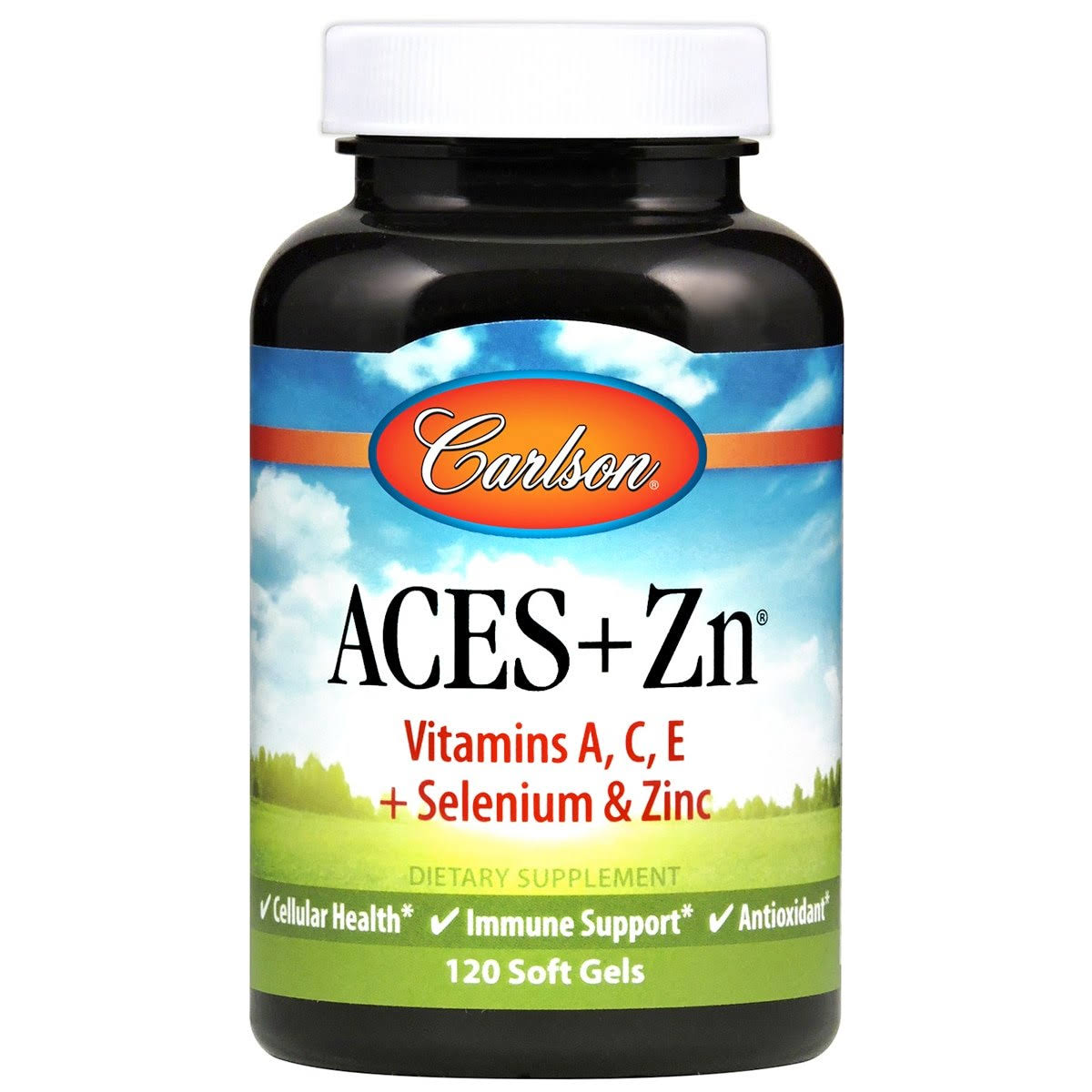 Carlson Aces + Zn Dietary Supplement - 120 Soft Gels