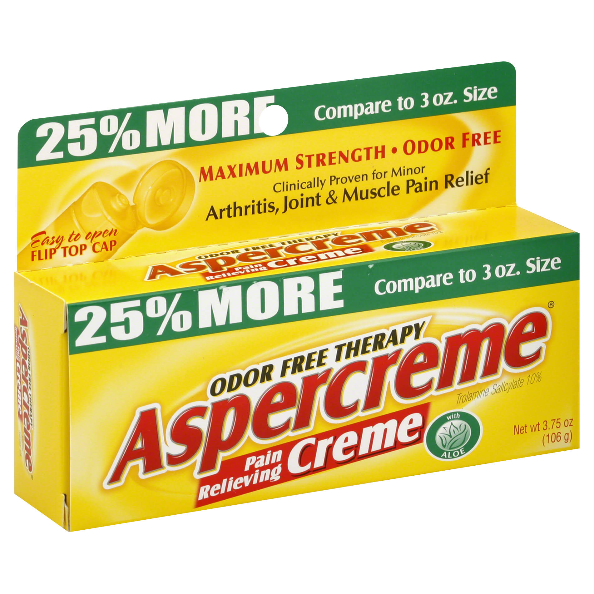 Aspercreme Odor Therapy Pain Relieving Cream - 3oz