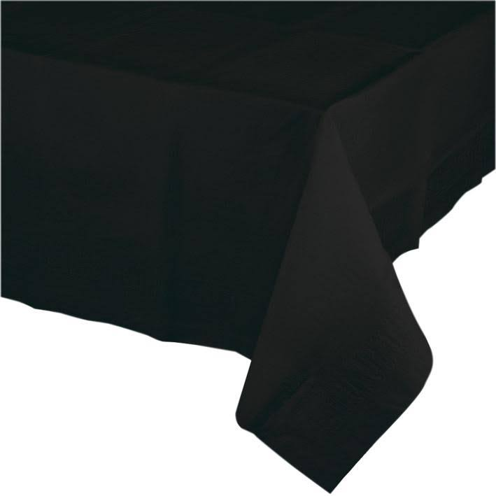 Creative Converting Paper Banquet Table Cover - Black Velvet
