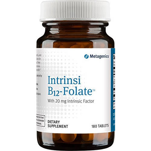 Metagenics Intrinsic B12 Folate Dietary Supplement Tablets - 180 Count