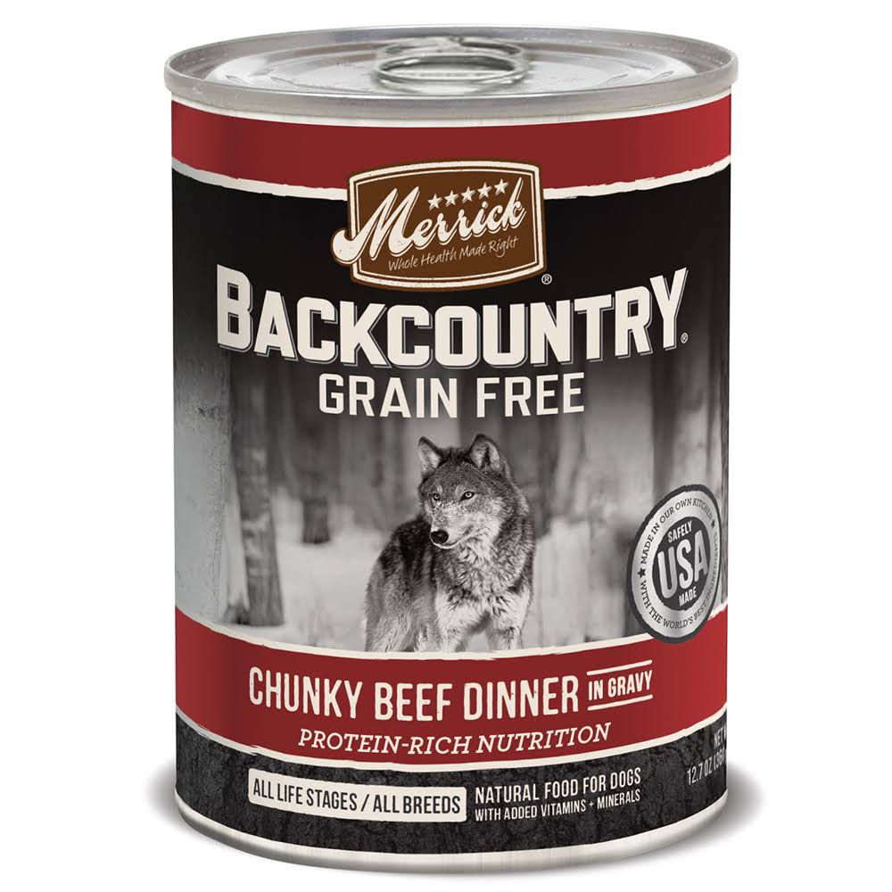 Merrick Pet Food Backcountry Dinner - Chunky Beef, 12.7oz