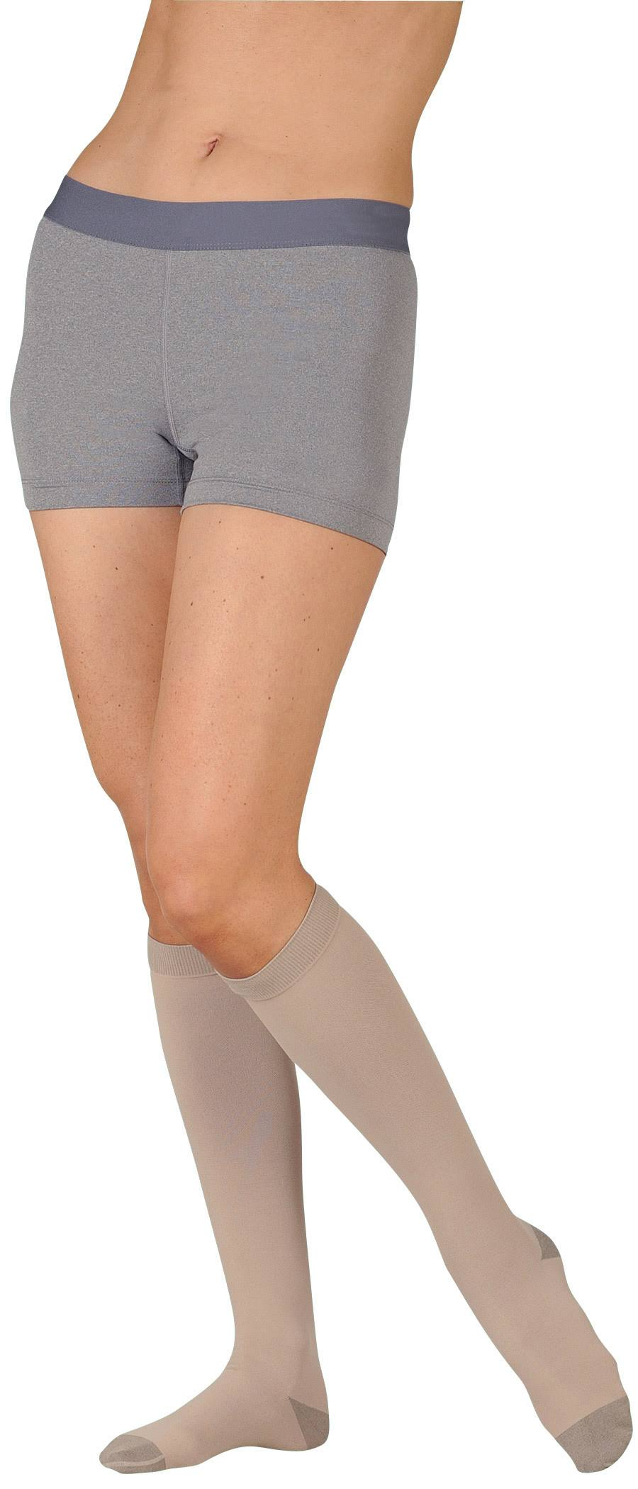 Juzo Silver Open Toe Thigh High with Silicone Dot Band - 20-30mmHg, Size II