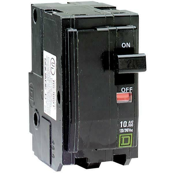 Square D 2-Pole Circuit Breaker - 20Amp