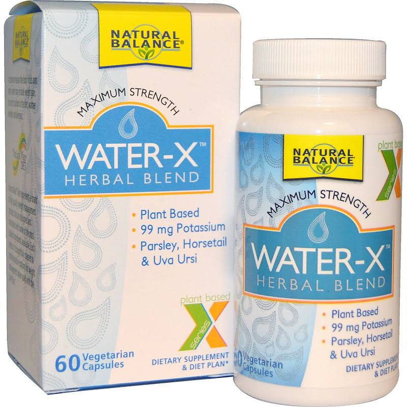 Natural Balance Water-X Herbal Blend Maximum Strength Supplement - 60 Vegetarian Capsules