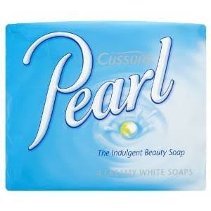 Cussons Pearl Creamy White Bar Soap - 90g, 4pk