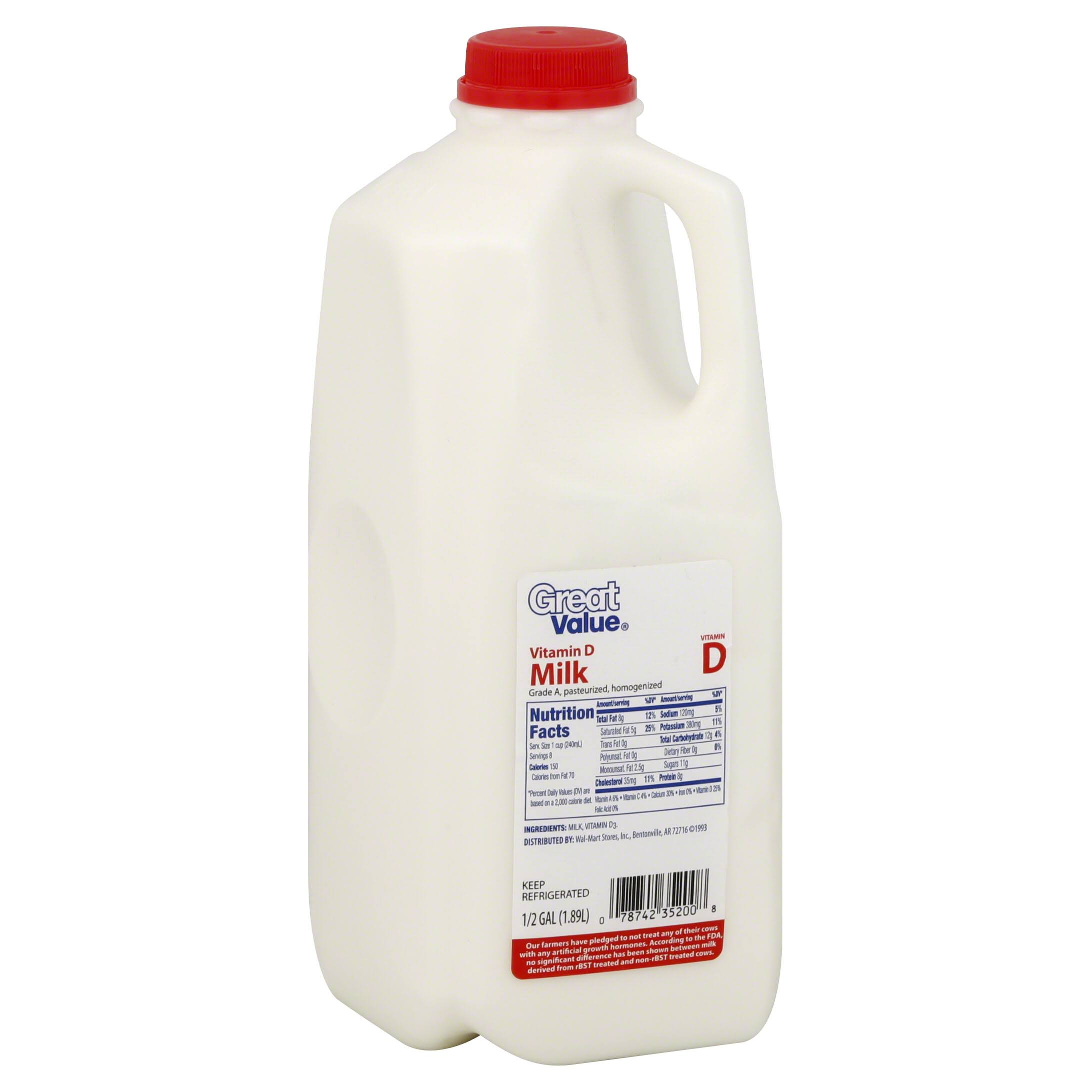 Great Value Vitamin D Milk - 1.89l