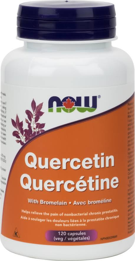 Now Nutrition Now Quercetin with Bromelain 120 vcaps