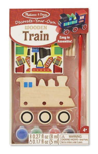 Melissa & Doug Decorate Your Own WoodenTrain