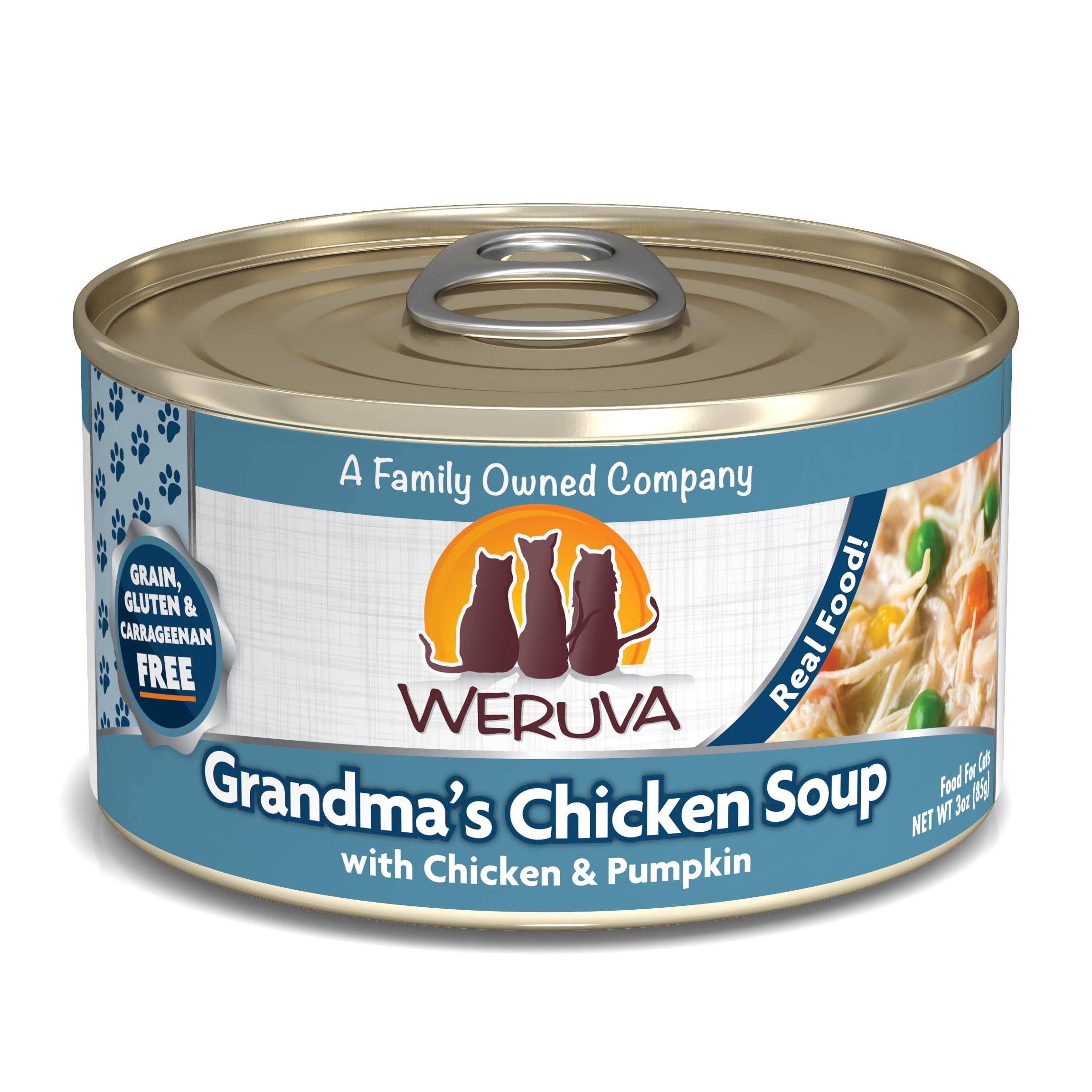 Weruva Canned Cat Food - 3oz, Grandma's Chicken Soup
