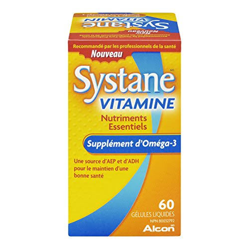 Alcon Systane Vitamin Omega 3 Supplement - 60 Softgel