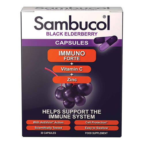 Sambucol Immuno Forte Supplement - Black Elderberry, 30ct