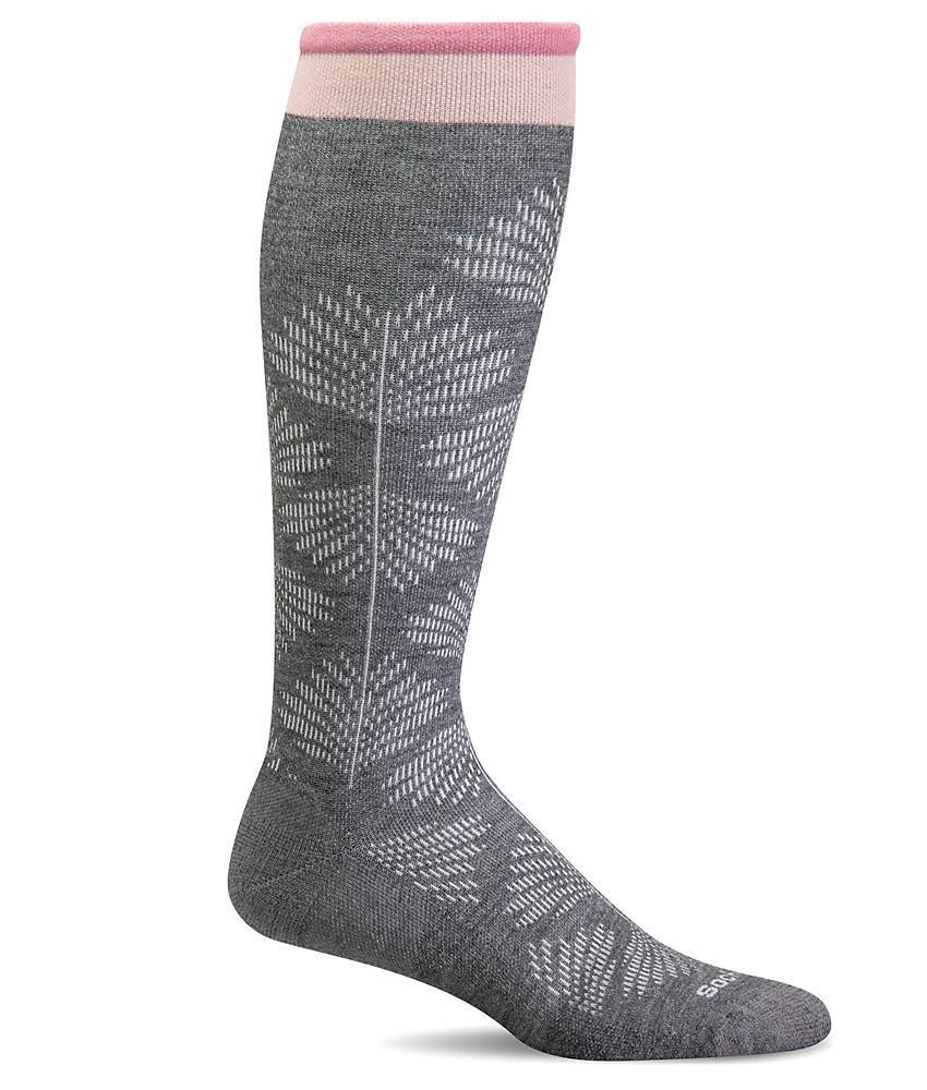 Sockwell Women's Full Floral Moderate Compression Socks M/L / Charcoal