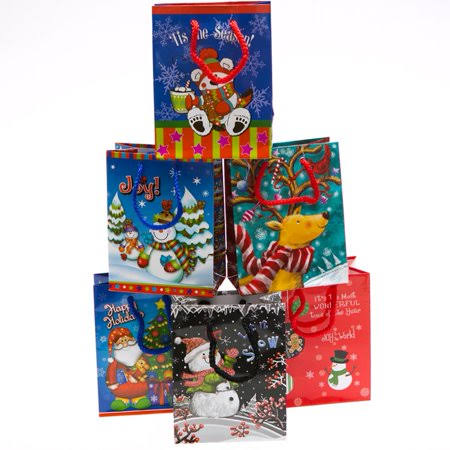 Small Christmas Crowd Gift Bags, Size: One Size
