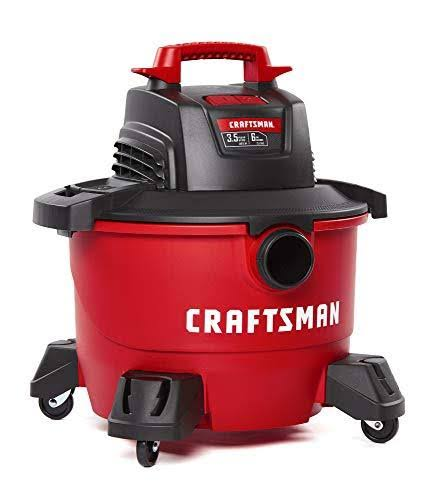Craftsman Corded Wet / Dry Vacuum - Red, 6gal, 3.5hp, 7.5A, 120V
