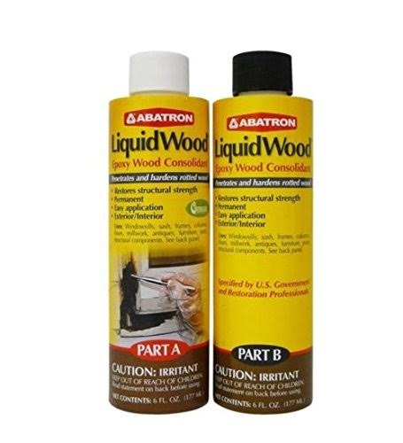 Abatron LiquidWood Kit Epoxy Wood Consolidant - 6oz, Part A and B