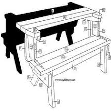picnic table bench combo plan picnic table bench picnic table