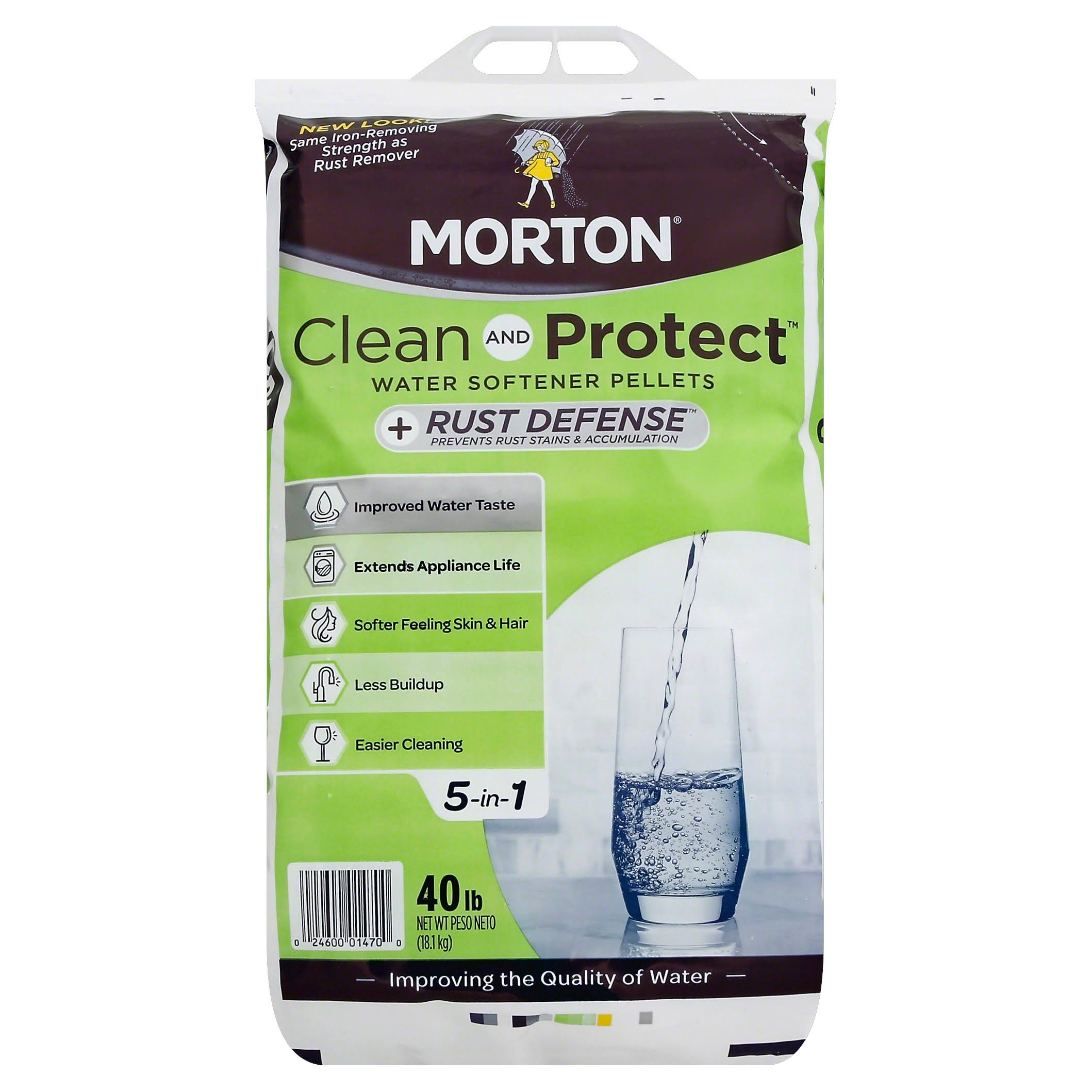 Morton Salt Clean and Protect Plus Rust Defense Pellets - 40lb
